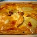 Heerlijke pastei met kip, prei en ham