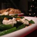 Haricot verts met mozzarella/knoflook en basilicum