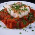 Gegrilde vis met Marokkaanse tomatensaus