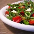 Gegrilde groene asperge salade