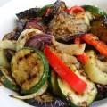 Oven geroosterde groenten met Tabil