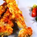 Kip kebabs met citroen, saffraan en boter