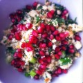 Kruidige couscous met granaatappelpitten