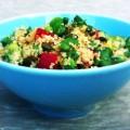Goed gevulde groene couscous