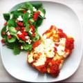 Manicotti gevuld met ricotta, spinazie en mozzarella
