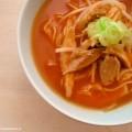 Chinese tomatensoep met Kip en Mihoen