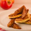 Ricottapannenkoekjes met heerlijke gekaramelliseerde appeltjes