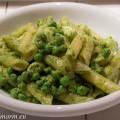 Pasta Pesto met Erwtjes en Mozzarella