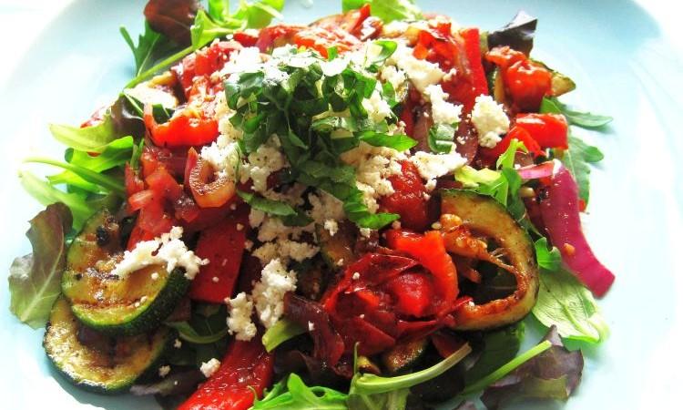 Gegrilde groentensalade