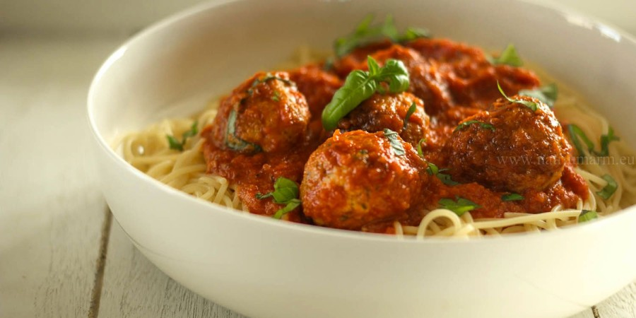 Kalkoenballetjes met spaghetti
